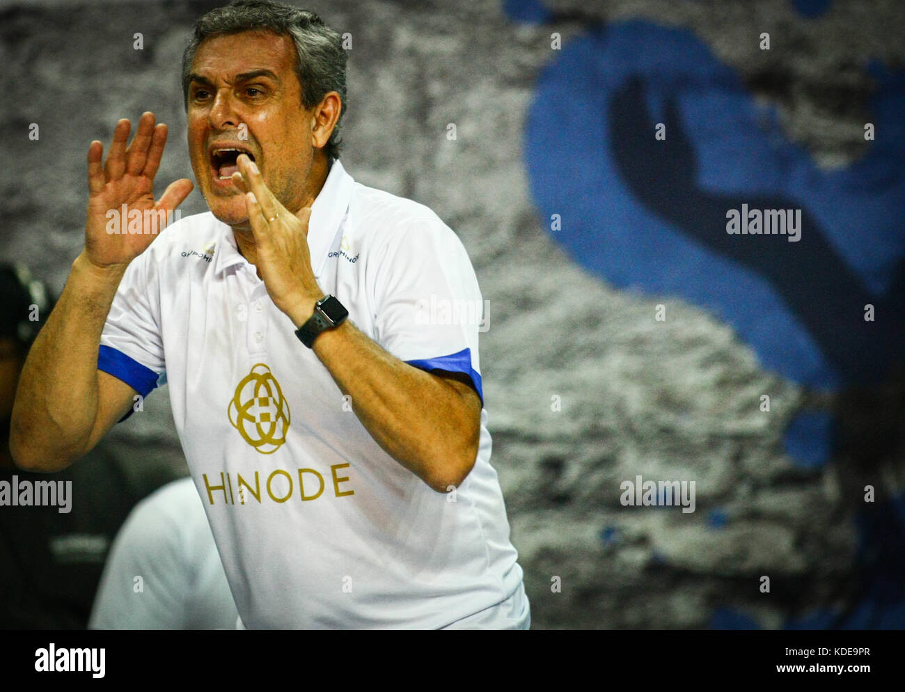 Osasco Brazil. 13th Oct 2017. In the photo the coach of Hinode Stock Photo Royalty Free Image