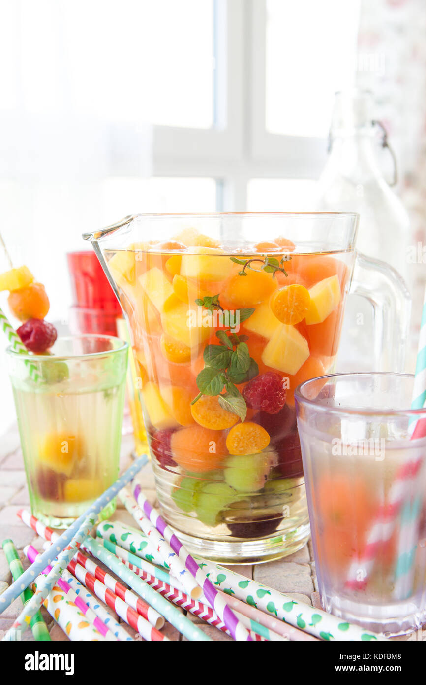 how to make homemade fruit punch