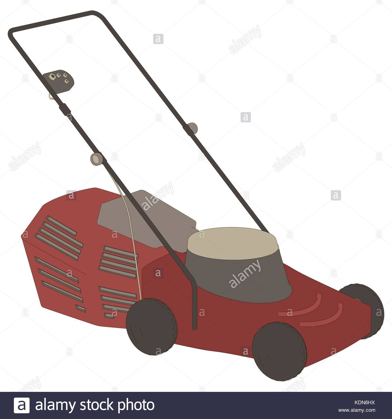 Cartoon Lawn Mower Stock Photos & Cartoon Lawn Mower Stock ...
