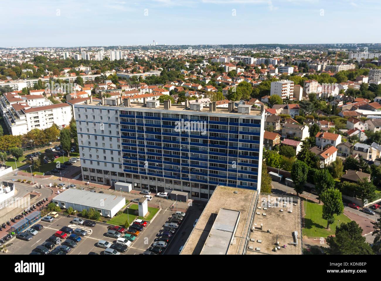 Creteil, France, French Public Hospital, Henri Mondor, Outisde Building - Stock Image