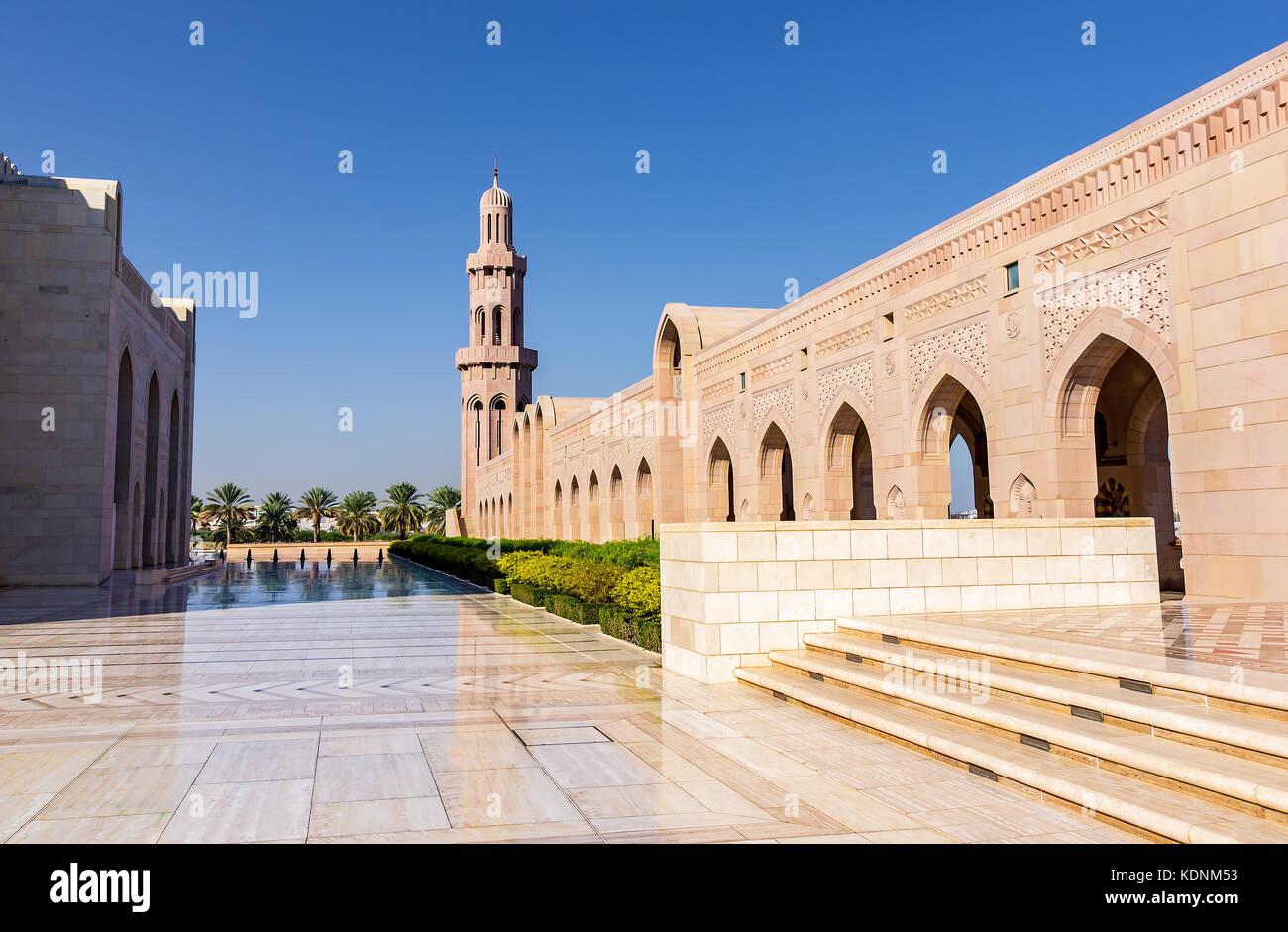 Interior Sultan Qaboos Grand Mosque Stock Photos