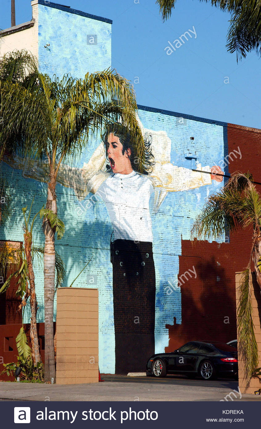 Michael jackson painting stock photos michael jackson for Bank ballroom with beautiful mural nyc
