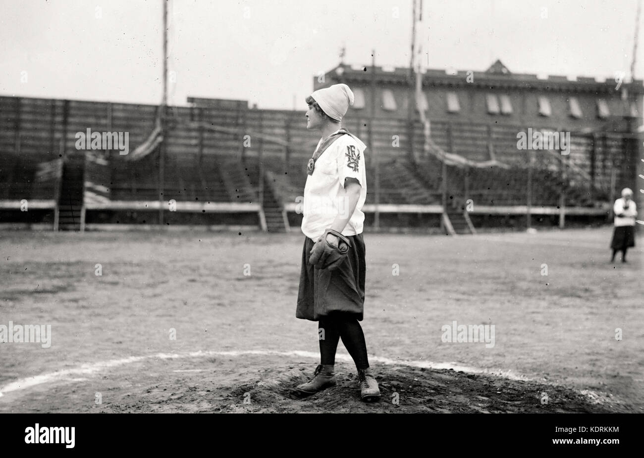 New York Female Giants baseball pitcher circa 1913 - Stock Image