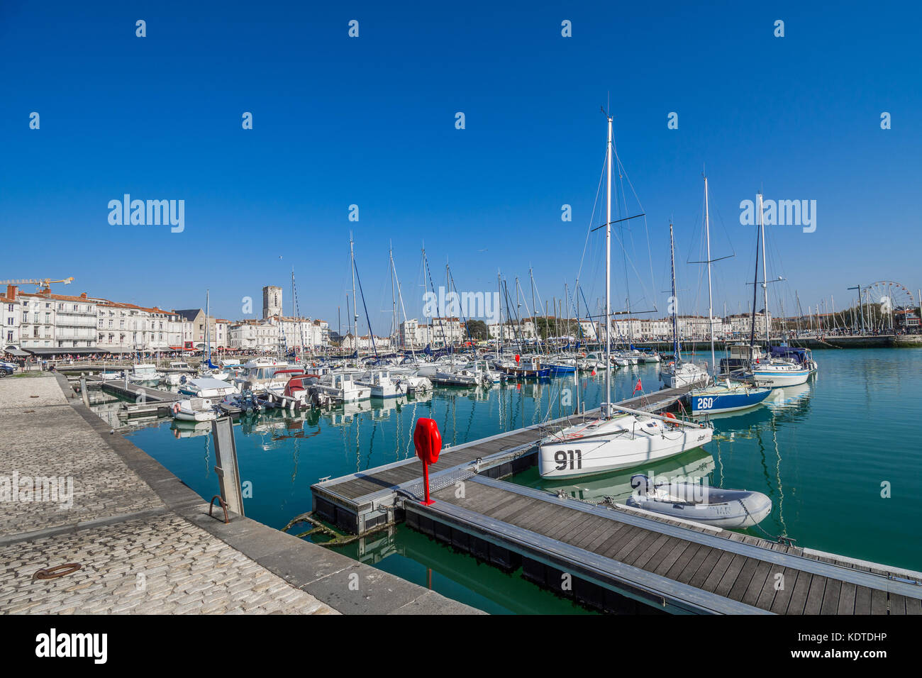 The old port (Vieux Port) of La Rochelle, Charente-Maritime, France. - Stock Image