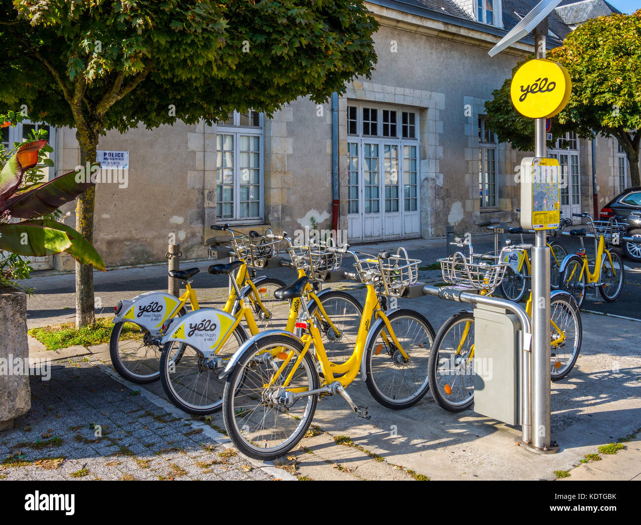 Yélo hire bicycles, La Rochelle, France. - Stock Image
