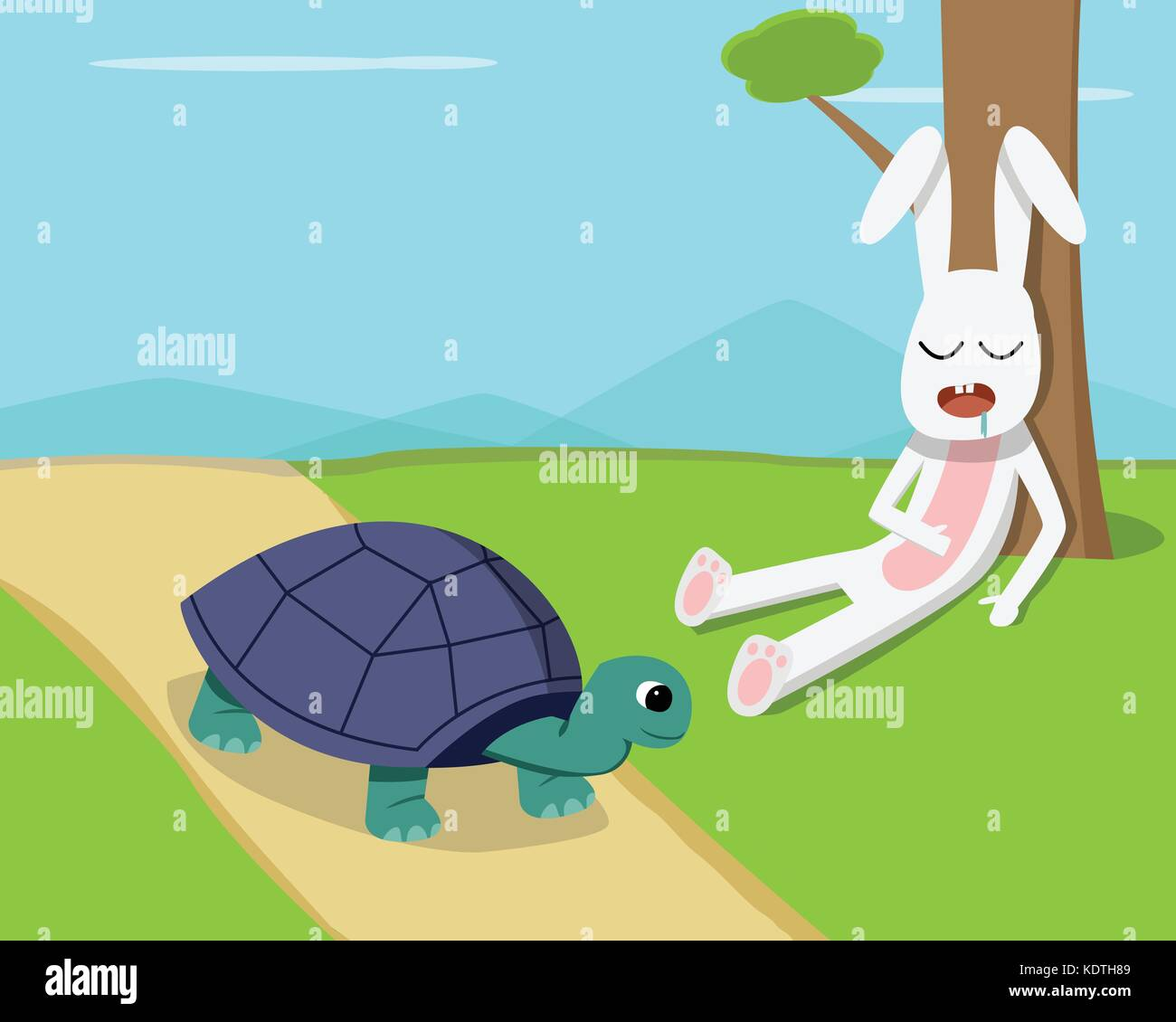 the rabbit and the turtle running race