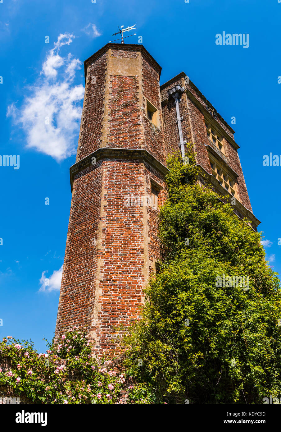 Castle towers at Sissinghurst Gardens, Kent, UK - Stock Image