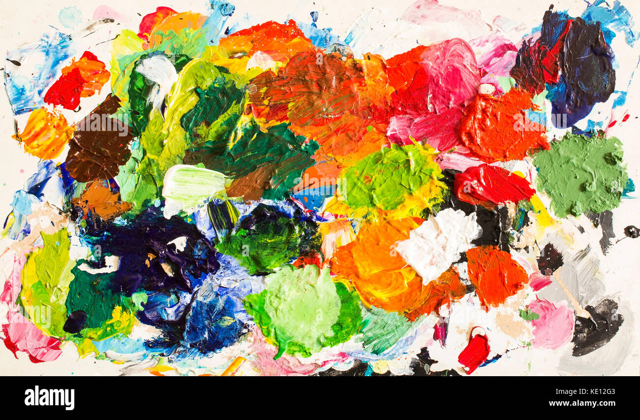 Abstract Painting as a Background. - Stock Image