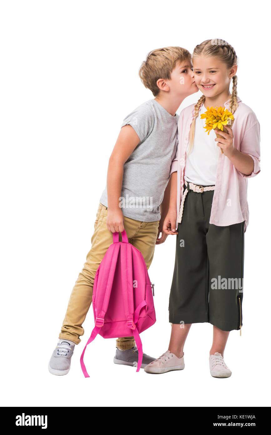 Cute Little Boy Girl Kissing Stock Photos Amp Cute Little