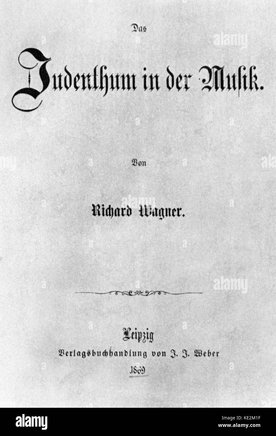 richard wagner and 19th century anti semitism