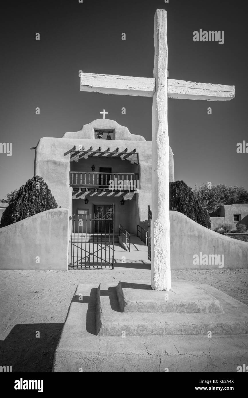 Abiquiú was the starting point of the pioneering route of the Old Spanish Trail. This first route, the Armijo - Stock Image