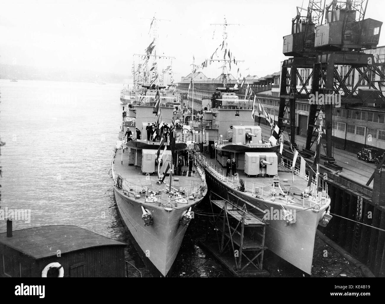 RCN destroyers at Vancouver 1939 - Stock Image