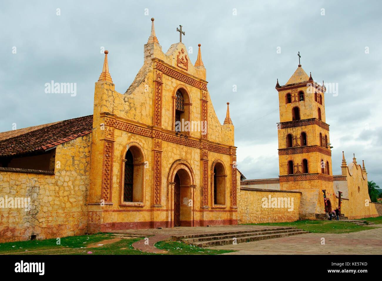 Jesuit mission, Jesuit reduction, San José de Chiquitos, Santa Cruz, Bolivia - Stock Image