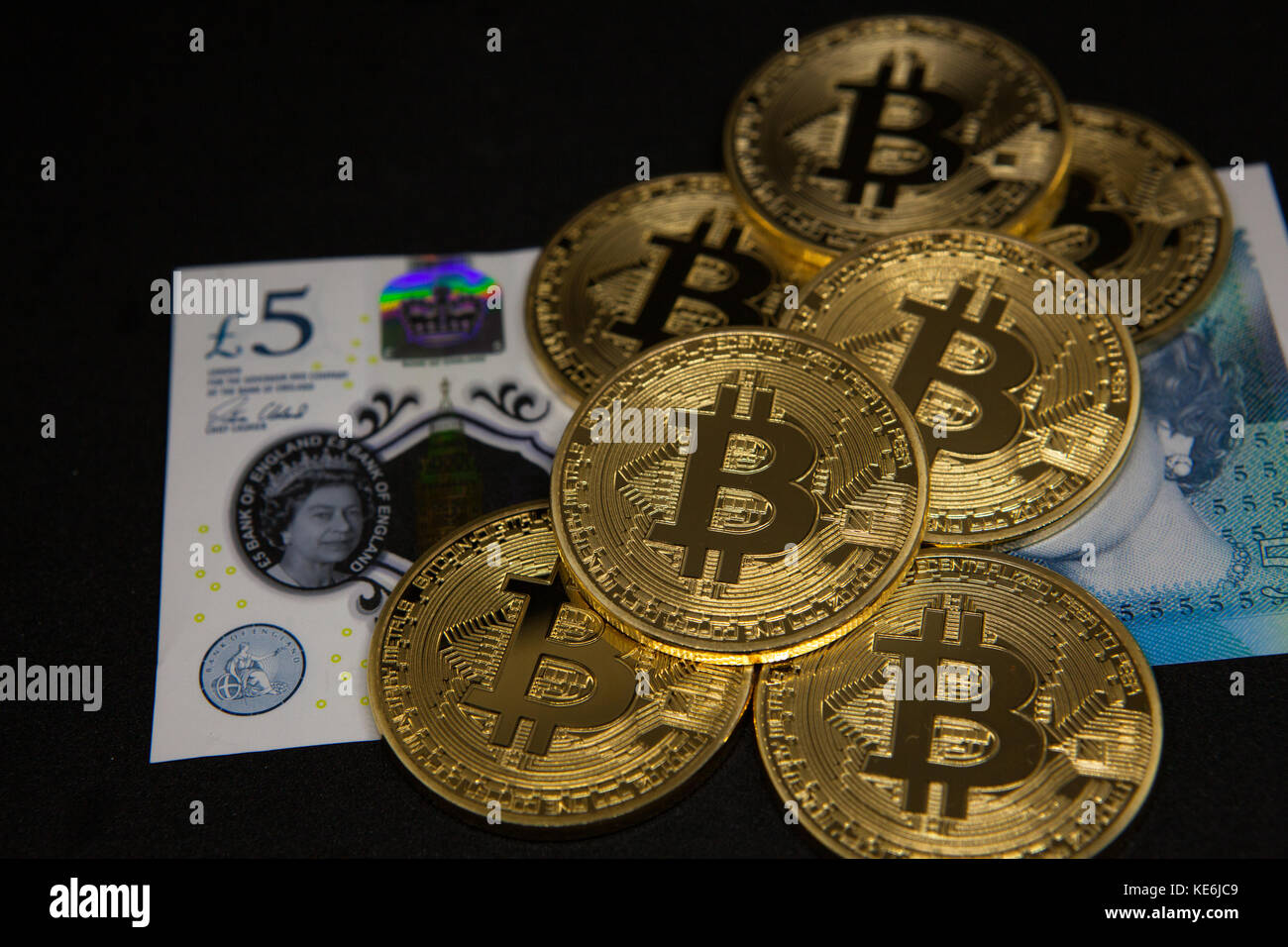 Bitcoins Stock Photo