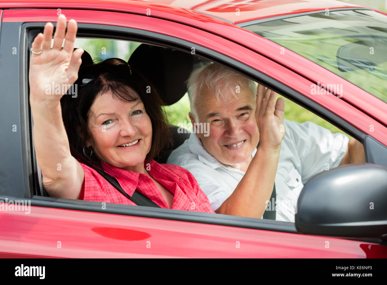 waving goodbye car stock photos waving goodbye car stock images alamy. Black Bedroom Furniture Sets. Home Design Ideas