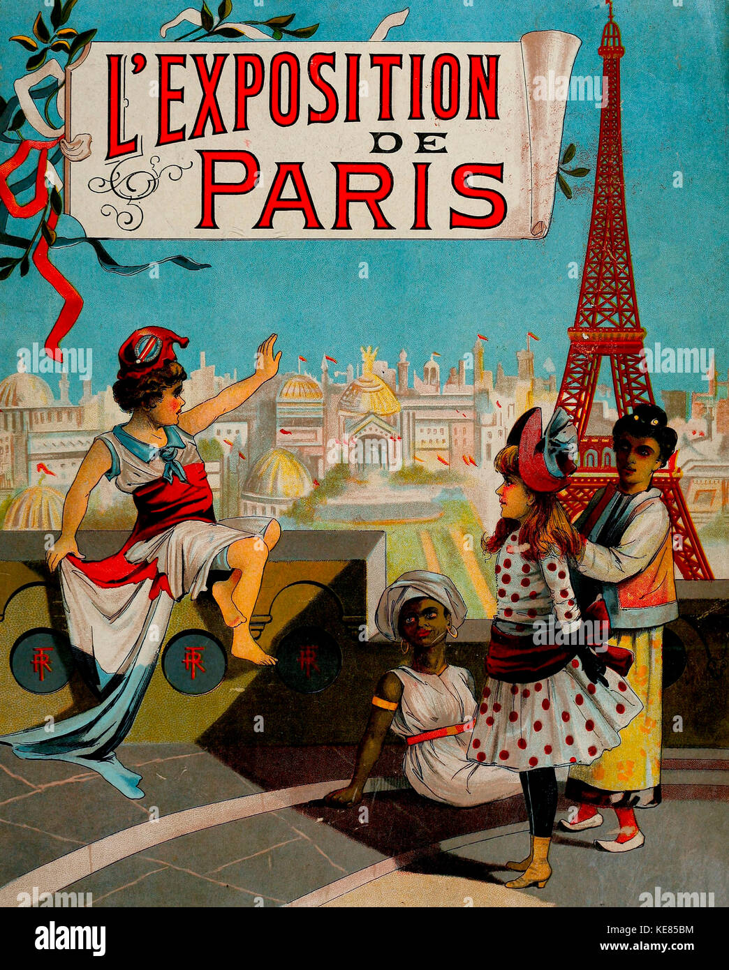 Paris Universal Exposition of 1878 - Stock Image