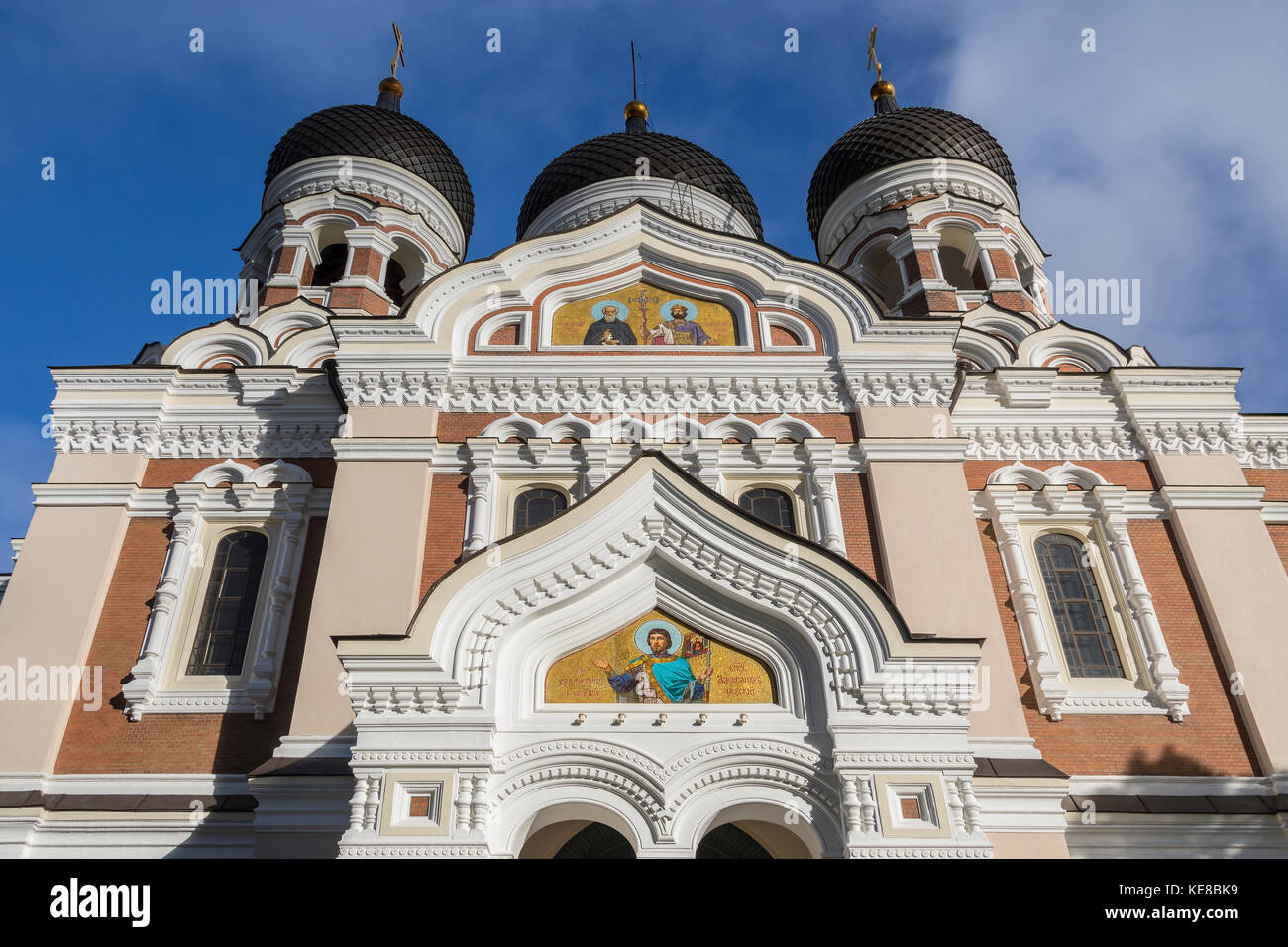 The Alexander Nevsky Cathedral on Toompea Hill in the Tallinn Old Town in Estonia. An Eastern Orthodox Church built - Stock Image