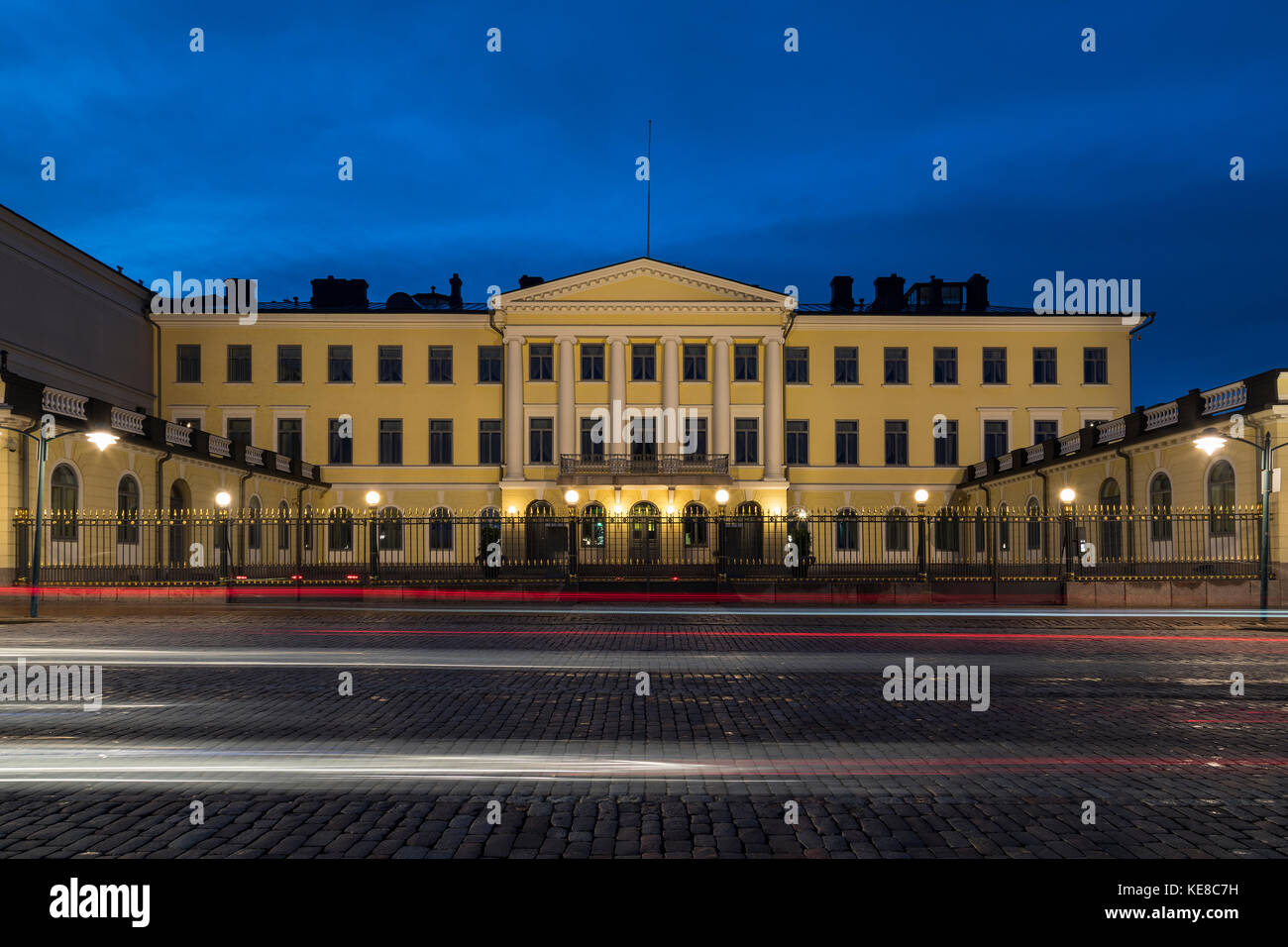 Government Palace on Market Square in Helsinki, Finland - Stock Image