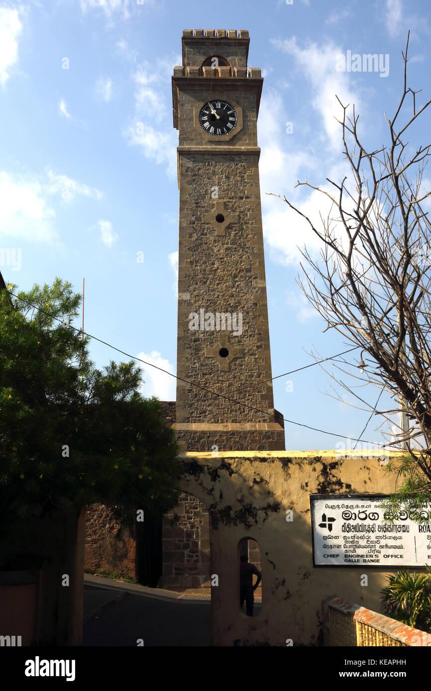 Galle Sri Lanka Galle Fort Clock Tower - Stock Image