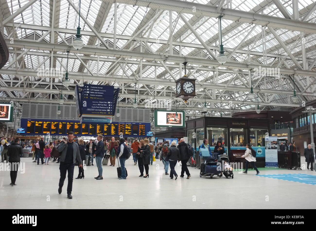 Central railway station, Glasgow, Scotland, United Kingdom. 16 September 2017. - Stock Image