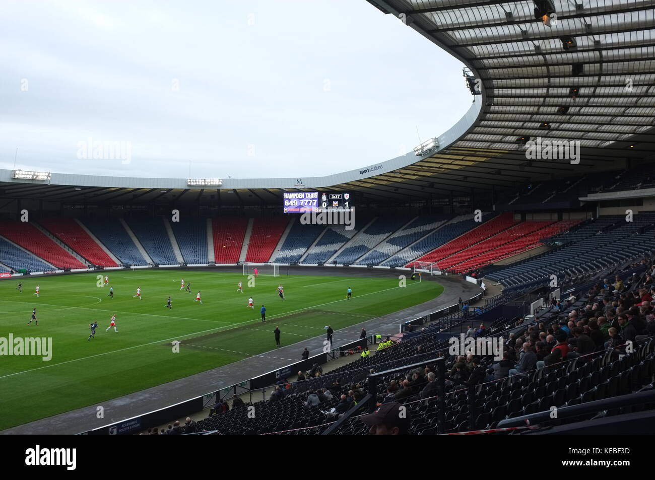 Inside Hampden Park football stadium during Queen's Park v Raith Rovers, Glasgow, Scotland, United Kingdom. - Stock Image