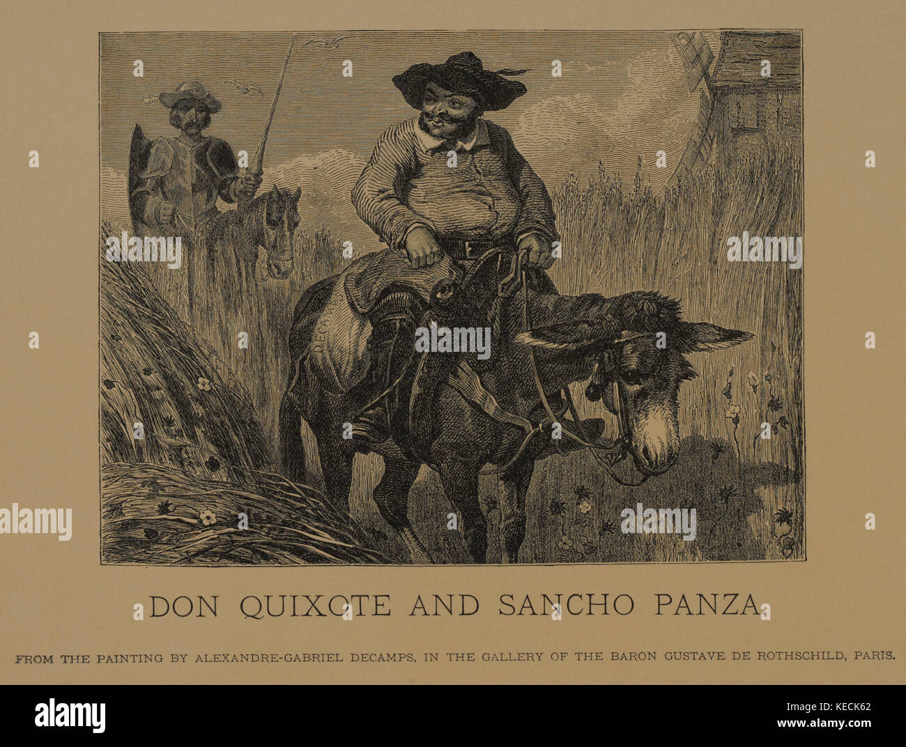 Don quixote comparison with sancho panza