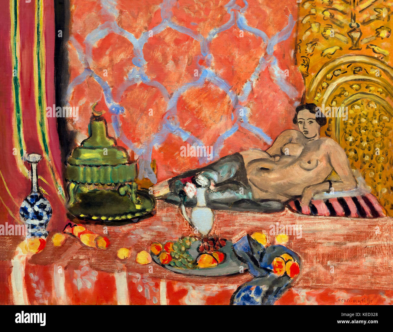 Odalisque with Gray Trousers, Henri Matisse, 1927, Metropolitan Museum of Art, Manhattan, New York City, USA, North - Stock Image