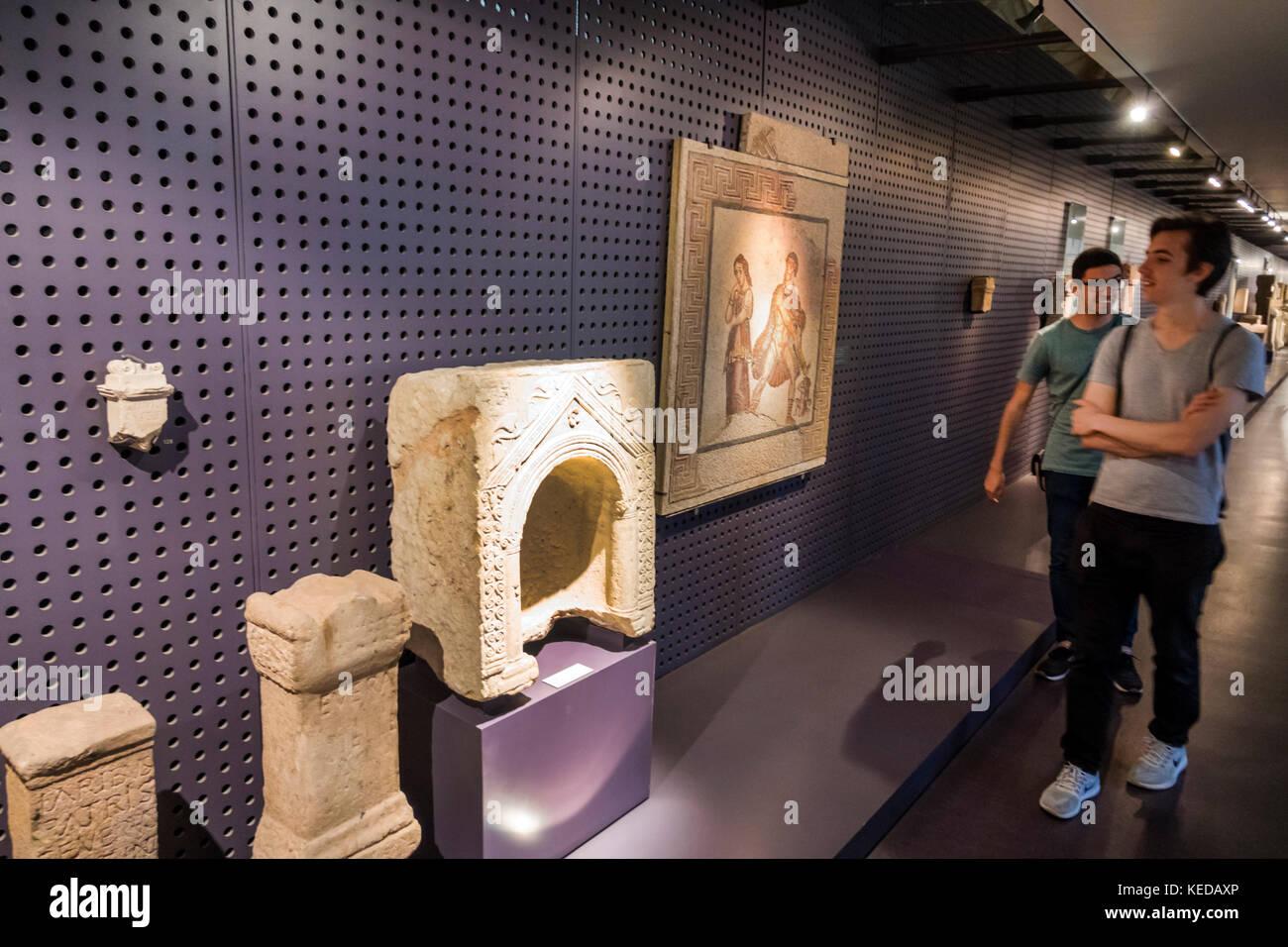 Lisbon Portugal Belem Mosteiro dos Jeronimos Jeronimos Monastery National Archaeology Museum Museu Nacional de Arqueologia - Stock Image