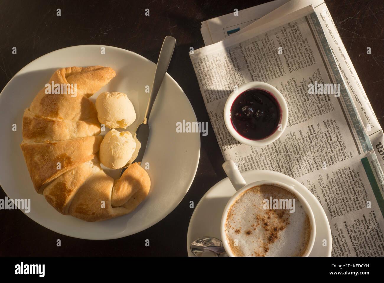 Breakfast table - Stock Image