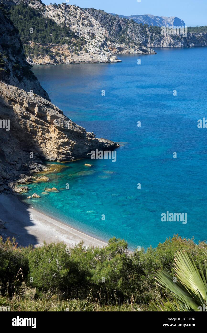 Es Coll Baix cove.Mallorca Island.Spain - Stock Image