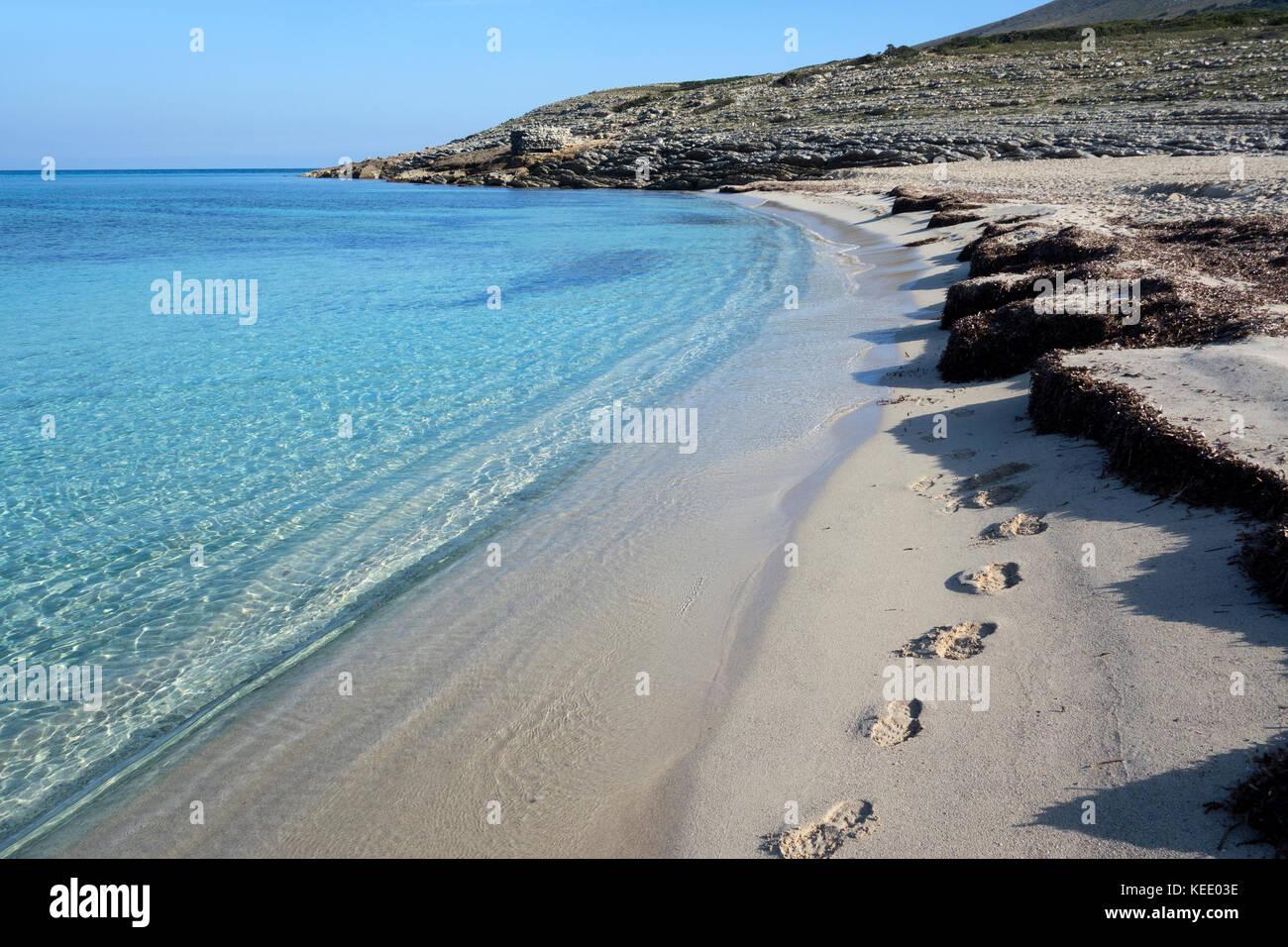 Cala Mesquida beach,Mallorca Island.Spain - Stock Image