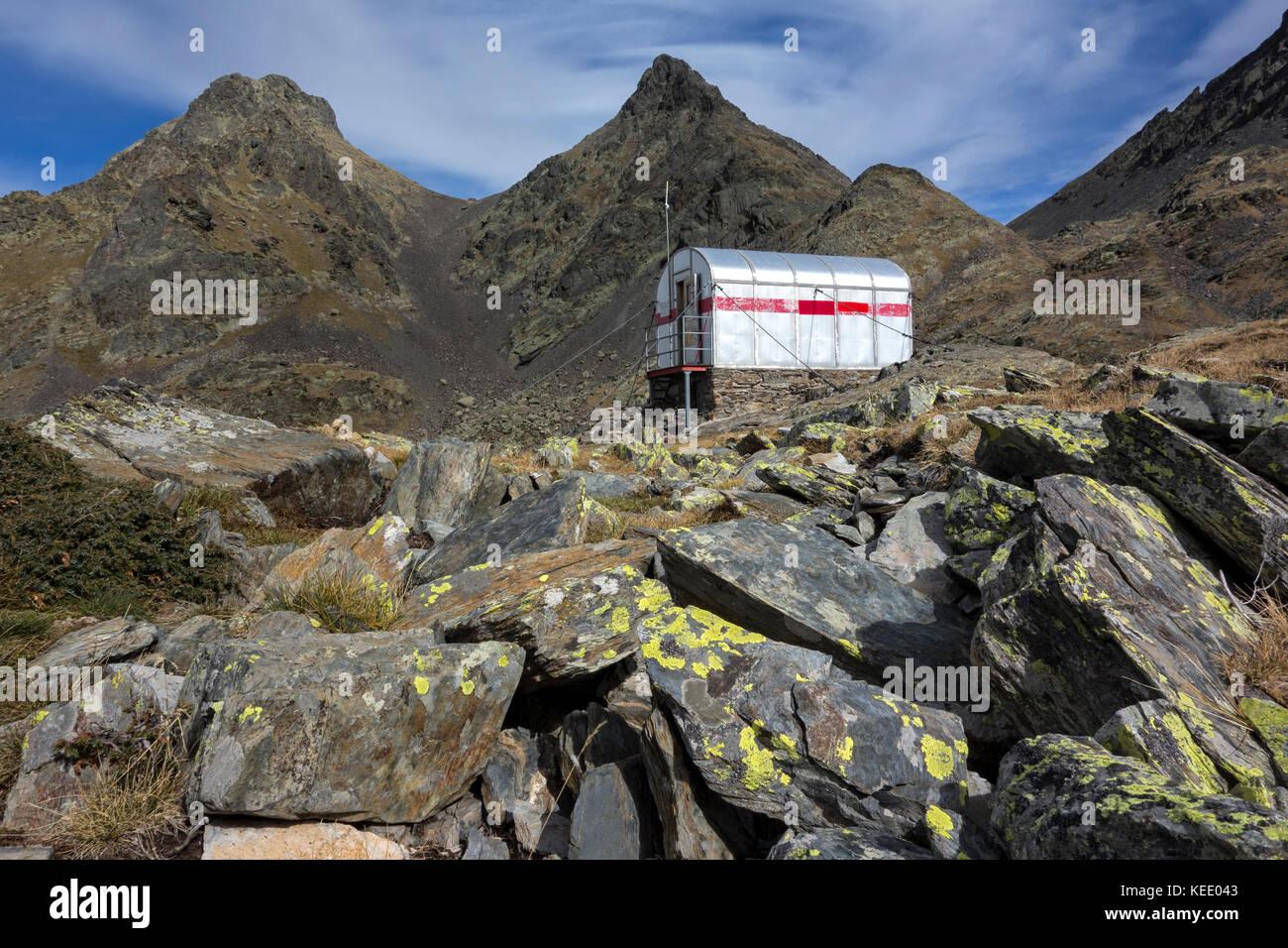 Mountain shelter.Pyrenees. Baiau .Catalunya.Spain - Stock Image