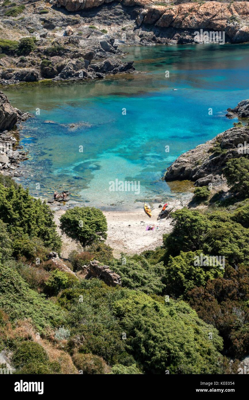 Scenic cove at Cap de Creus Natural Park.Girona.Catalunya.Spain - Stock Image