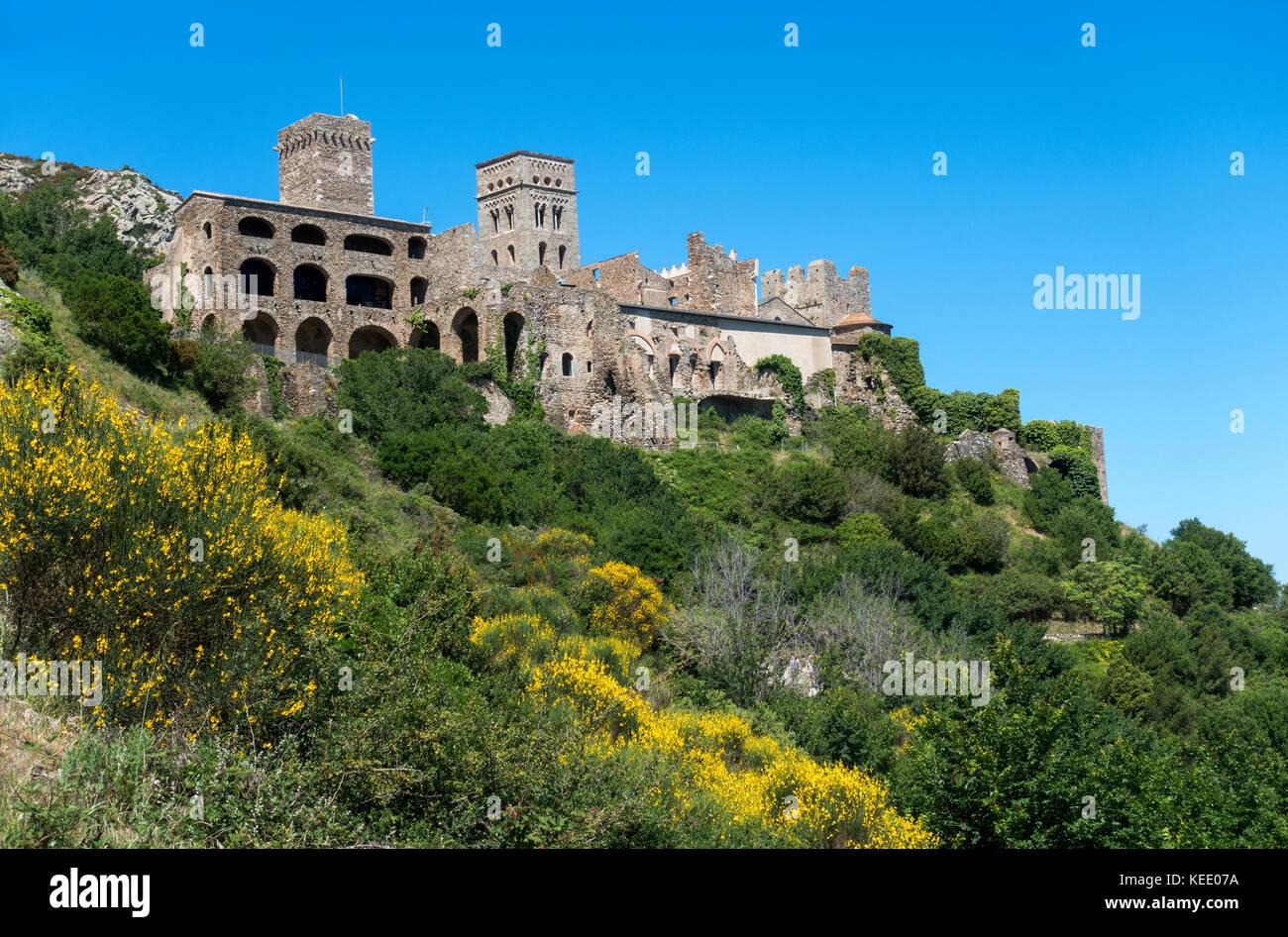 Sant Pere de Rodes monastery.Girona.Catalunya.Spain - Stock Image