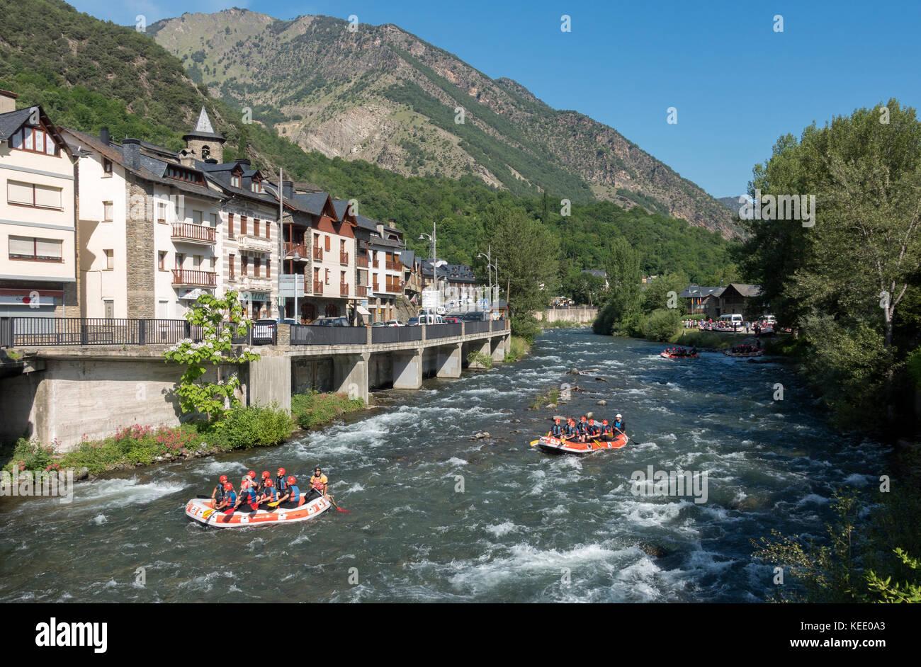 Rafting at Llavorsí.Lleida.catalunya.Spain - Stock Image