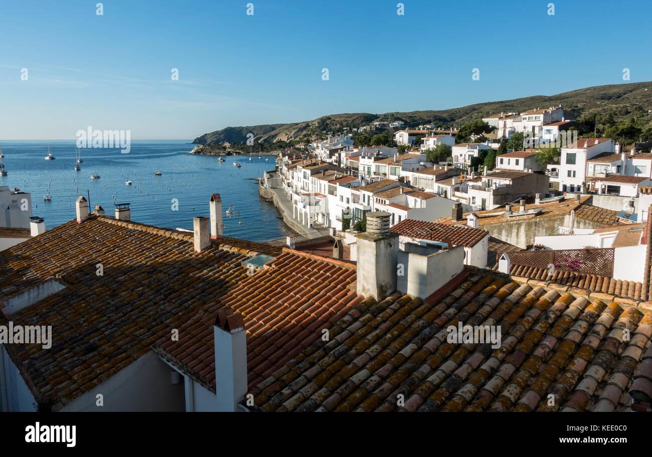 Cadaques village.Gerona.Catalunya.Spain - Stock Image