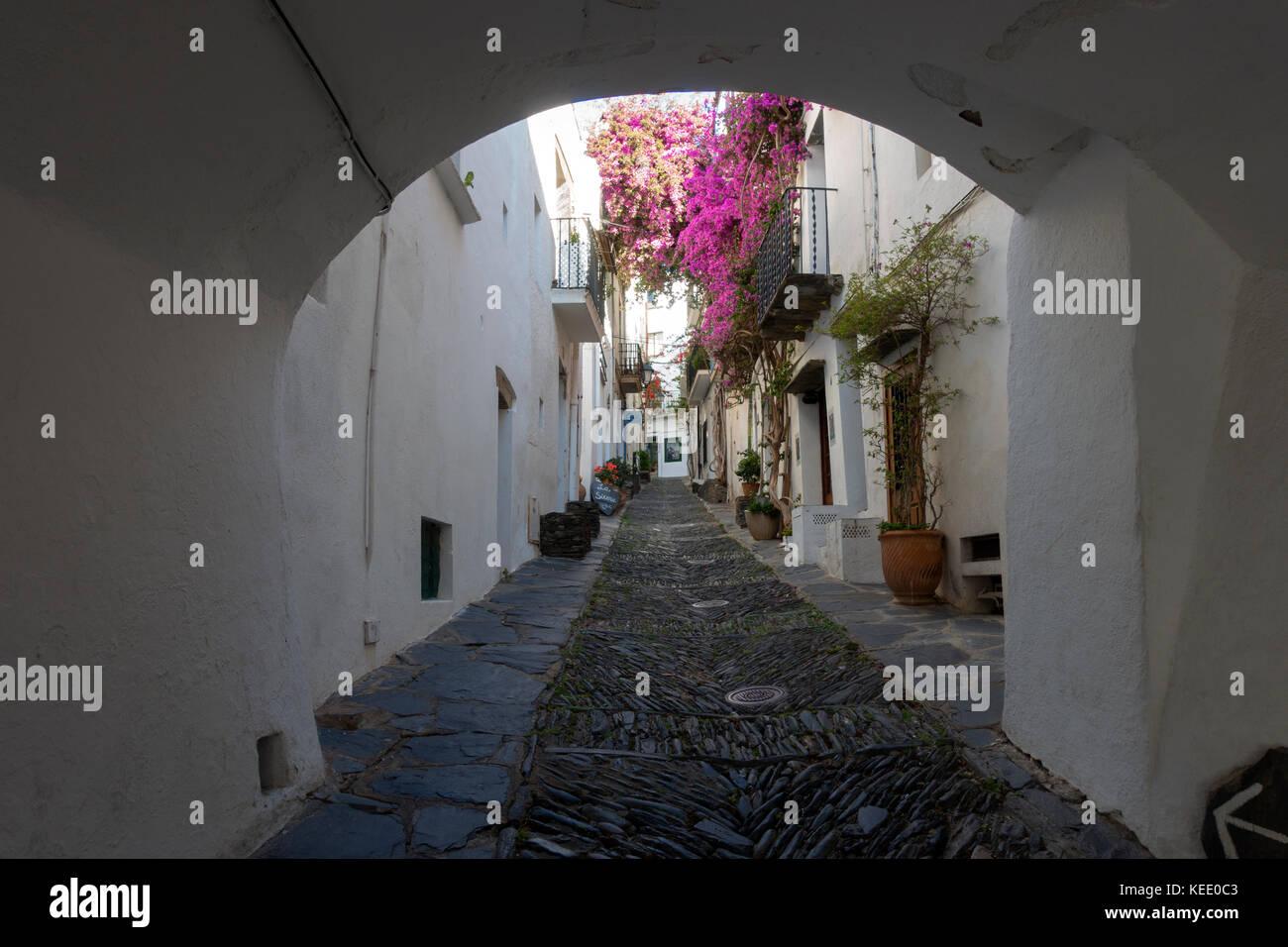 Cadaqués village.Girona.Catalunya.Spain - Stock Image