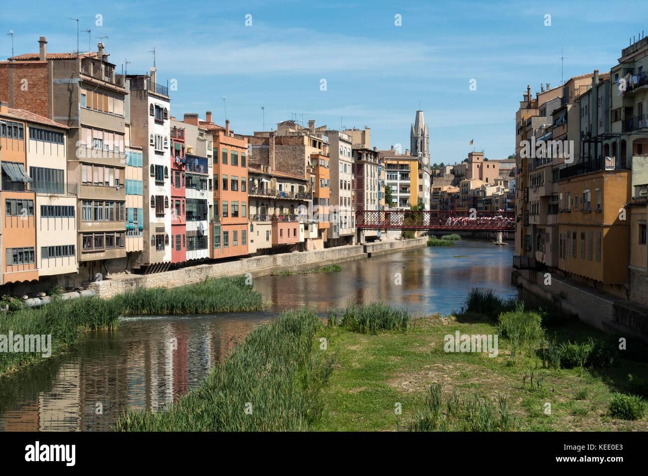 Gerona old city.Catalunya.Spain - Stock Image