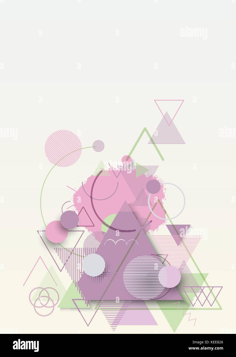 Abstract geometric flat background - Stock Image
