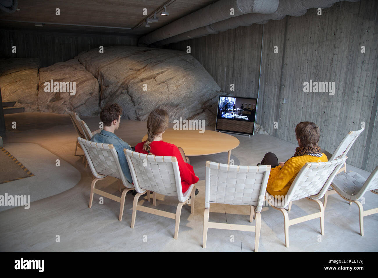 ARTIPELAG a new art and event hall in the archipelago of Stockholm. Inspired by Danish Louisiana you have art exhibitions - Stock Image