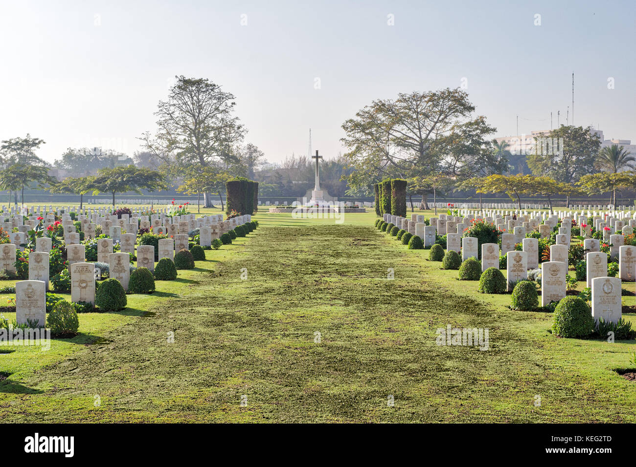 Heliopolis Commonwealth War Cemetery, contains 1742 burials of the Second World War, opened in October 1941 - Stock Image