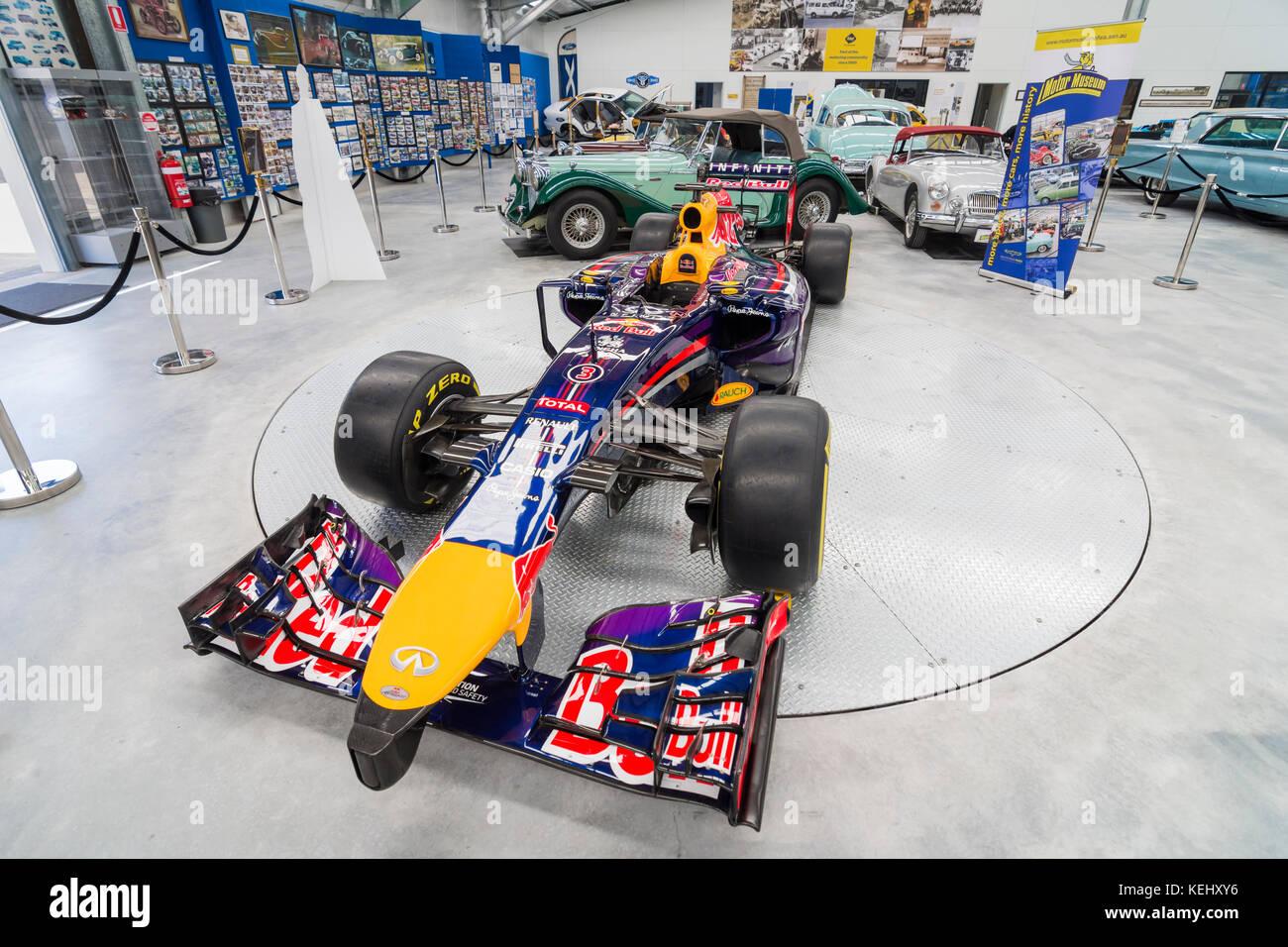 Daniel Ricciardo's Red Bull Formula 1 racing car on display at the Motor Museum of WA, Whiteman Park in the Swan - Stock Image