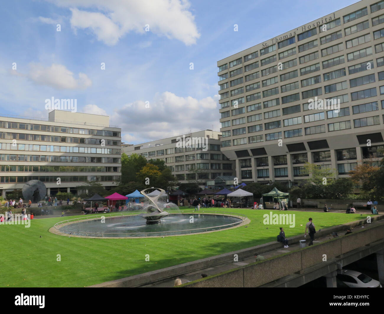 St Thomas' Hospital is a large NHS teaching hospital in Central London, England - Stock Image