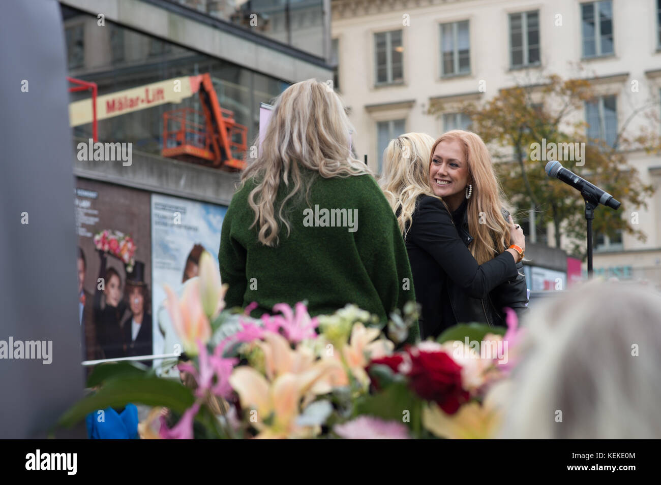 Stockholm, Sweden, 22nd October, 2017. This week, millions of women worldwide shared their experiences of sexual - Stock Image