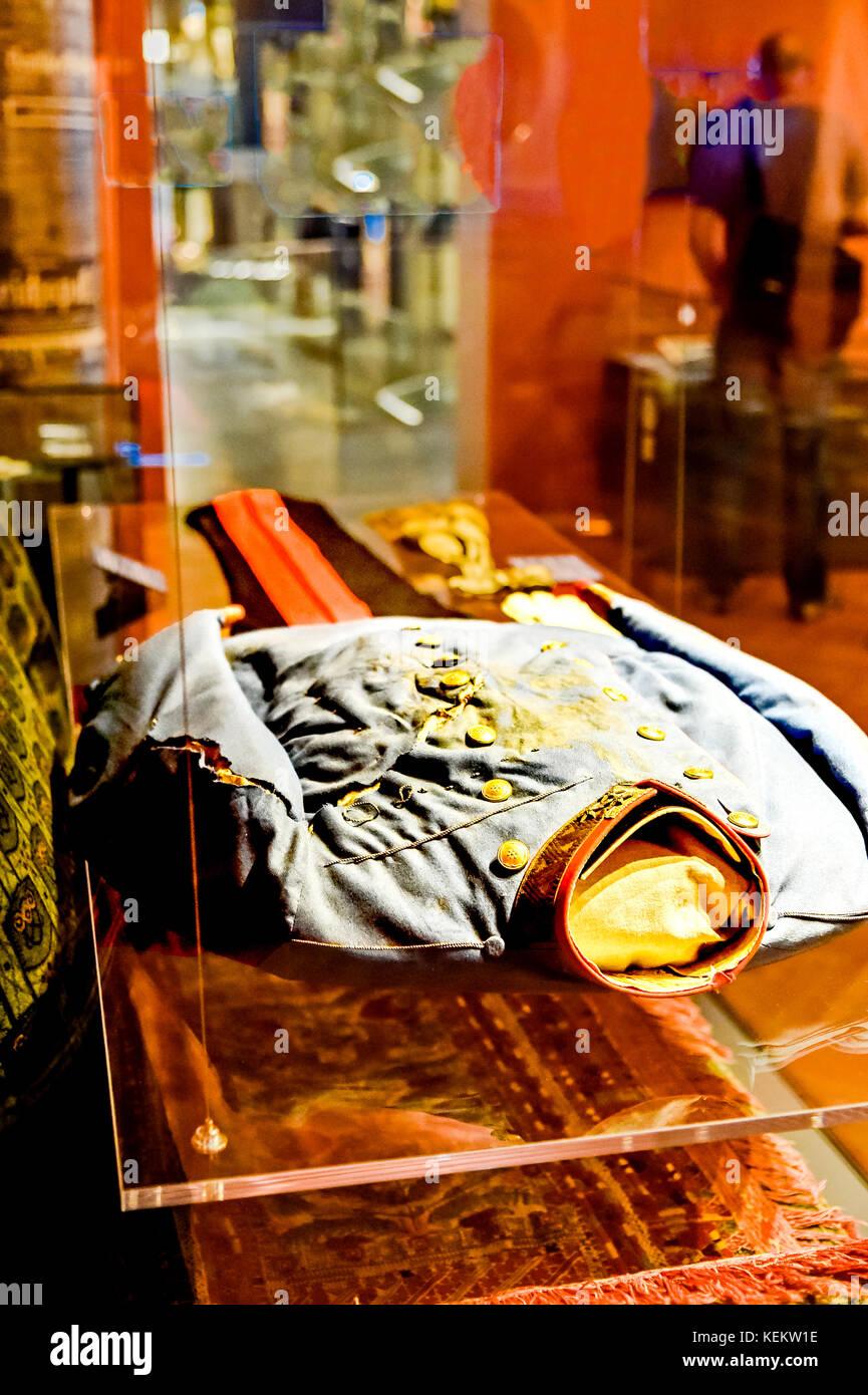 Vienna (Austria), Military Museum: Uniform in which Archduke Franz Ferdinand was was assassinated in Sarajewo; Wien, - Stock Image