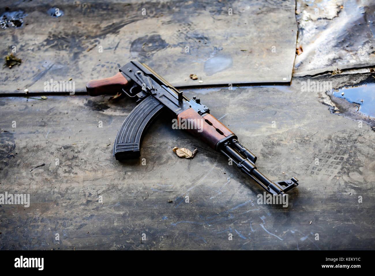 AK-47 Kalashnikov rifle - Stock Image