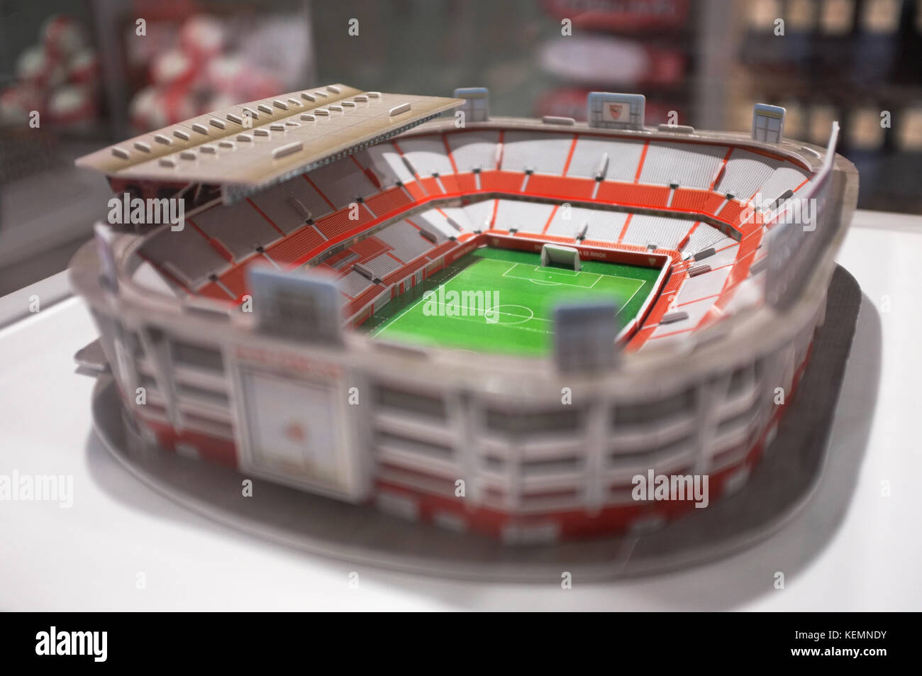 A model of the Ramón Sánchez Pizjuán Stadium, Sevilla FC vs Las Palmas, Seville, Andalucia, Spain, - Stock Image