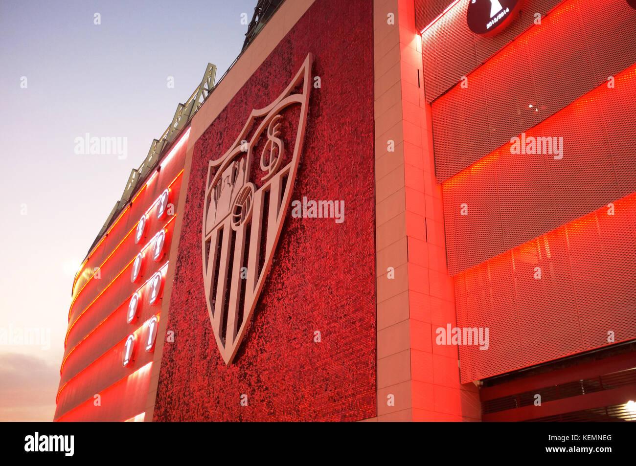 Exterior of the Ramón Sánchez Pizjuán Stadium, Sevilla FC vs Las Palmas, Seville, Andalucia, Spain, - Stock Image