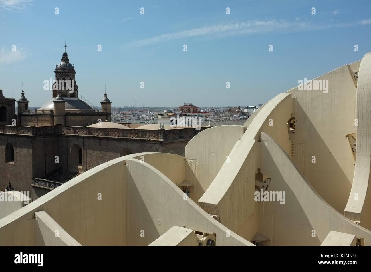 Metropol Parasol (Las Setas de la Encarnación - Incarnation's mushrooms) by Jurgen Mayer, Seville/Sevilla, - Stock Image