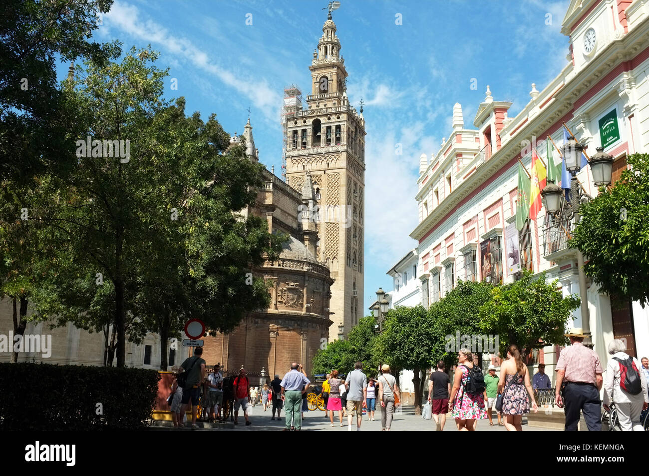 Cathedral of Saint Mary of the See, Seville/Sevilla, Andalucia, Spain, September 2017 - Stock Image